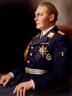 Hermann Goering, (1893-1946), German politician and military leader and leading member of the Nazi Party. 1934 painting by Franz Kienmayer.