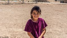 Beautiful Yazidi girl. Refugee camp in Kurdistan, Irak 2015