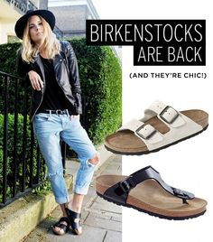 Birkenstocks Are Back--See How Ashley Olsen's Wearing Them via @WhoWhatWear