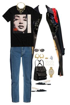 """""""Untitled #492"""" by klayvic ❤ liked on Polyvore featuring Christian Dior, Prada, Balenciaga, Chanel, Jean-Paul Gaultier, Wittnauer, Armenta and ASOS"""