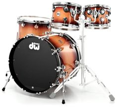 DW Drum Workshop Collector Series, Lacquer Specialty Series, Colour: Natural to Quick Tobacco Burst #drums #dw #thomann