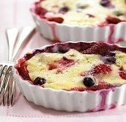 Healthy Berry Pudding Cake