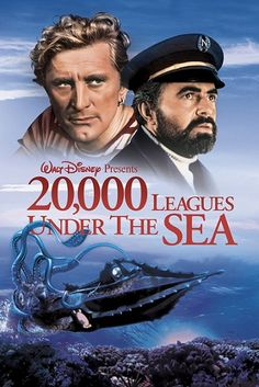 Leagues Under the Sea (Unabridged) - Jules Verne, Deniz.: Leagues Under the Sea (Unabridged) - Jules… Jules Verne, The Sea Movie, Movie Stars, Movie Tv, Movie List, Movie Theater, Kirk Douglas, Old Movies, Great Movies