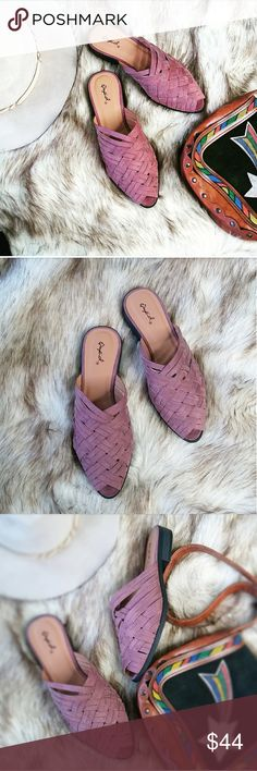 🆕//The Contessa// Mauve braided mule/ flat Brand new Never been worn  Comes in original box  No trades!! No trades!!  Price is Firm!! Unless bundled!! Price is Firm!! Unless bundled!!  Runs 1/2 a size small.  Man made material vegan leather  No Returns or Exchanges poshmark Rules! Strut! Shoes Flats & Loafers
