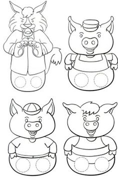 The Three Little Pigs Puppet Templates - the Three Little Pigs Puppet Templates , the Three Little Pigs Kindergarten Nana the Three Little Pigs Retelling Stick Puppets once Upon Three Little Pigs once Upon A Time In Gogoland Preschool Activities, Activities For Kids, Bears Preschool, Reading Activities, Art For Kids, Crafts For Kids, Traditional Tales, Traditional Stories, Paper Puppets