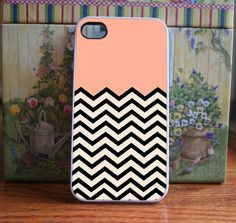 I love this phone cover! - iPhone Case Peach Chevron - iPhone 4S and iPhone 4 Case Cover. $15.99