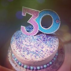 Mini Birthday Cake 30th Birthday Theme #cake #30th #birthday