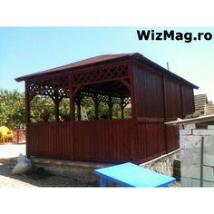 Foisor rustic dreptunghiular Mangalia Pergola, Outdoor Structures, Outdoor Decor, Home Decor, Italia, Decoration Home, Room Decor, Outdoor Pergola, Home Interior Design