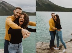 These two humans were the kindest people ever. We explored Lake Minnewanka, hiked up Johnston Canyon Waterfalls and shot on the side of a road in Banff. Engagement Couple, Engagement Shoots, Wedding Engagement, Banff National Park, Kinds Of People, Couple Shoot, Mountain, Wedding Photography, The Incredibles