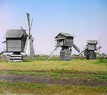Windmühlen in West-Sibirien um 1910