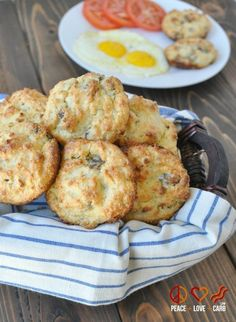 White Cheddar Sausage Biscuits - Low Carb, Gluten Free | Peace Love and Low Carb