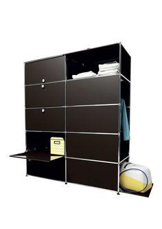 USM modular furniture wardrobe brown meuble USM Haller dressing marron