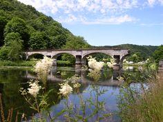 The Broken Bridge in Bohan (Vresse-sur-Semois), Namur Ardennes, South Belgium.