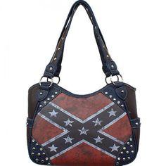 Vintage Rebel Flag Purse