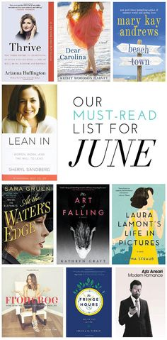 Our Must-Read List For June   glitterguide.com