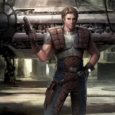 He looks pretty dashing Card Art for the now defuncted Star War Galaxies Trading Card Game. Copyright of Lucasarts Entertainment and Sony Online Entertainment.
