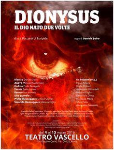 News di Spaghetti italiani - DIONYSUS Il Dio nato due volte, dal 4 al 13 marzo 2016 al Teatro Vascello di Roma