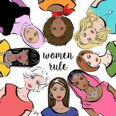 happy international women's day stylish illustration