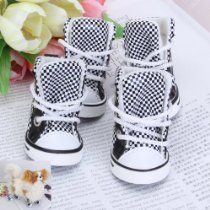 Black and White Check Pet Dog Boots Shoes Sneakers Size 2 Aussie Dogs, Dog Boots, Police Dogs, Dog Agility, Hunting Dogs, Pet Dogs, Shoes Sneakers, Black And White, Check