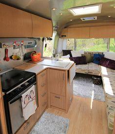 Peek Inside Airstream  good kitchen organizatioin