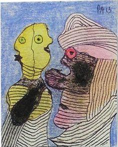 Eine weitere Zeichnung aus dem selben Büchlein 9 x 9 cm von Pierre Albasser