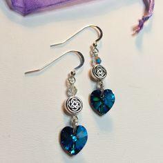 Outlander Inspired Celtic knot Valentine Earrings www.etsy.com/shop/TheMagpizeNest
