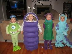 Homemade Monsters Inc Costumes These are all homemade!!! Fantastic!