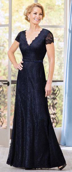 Glamorous Lace V-neck Floor-length A-line Mother of The Bride Dresses With Beadings