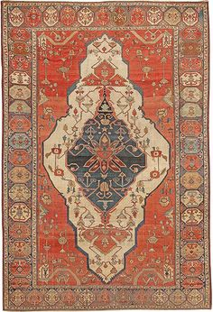 Heriz-Serapi Persian Rug by Nazmiyal Collection by Nazmiyal Collections Persian Carpet, Persian Rug, Dark Carpet, Interior Rugs, Rug Texture, Textiles, Textile Prints, Textured Carpet, Carpet Colors