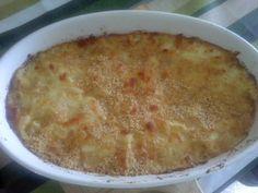 pasticcio di cavolfiore mozzarella e pancetta