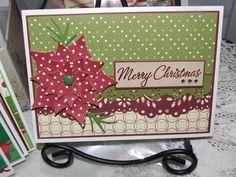 Card with poinsettia.