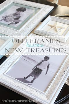 The best DIY projects & DIY ideas and tutorials: sewing, paper craft, DIY. Diy Crafts Ideas Old Thrift Store Frames become New Treasures! Diy Projects To Try, Diy Craft Projects, Home Projects, Diy Crafts, Craft Ideas, Diy Ideas, Do It Yourself Home, Do It Yourself Projects, Old Frames