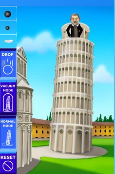 Dragon's Den Curriculum: Featuring: Force, Motion and Energy!  TERRIFIC sites to integrate into your science lessons. Included are links to activities, experiments and videos! The site pictured gives kids a chance to do Galileo's experiment off of the Leaning Tower of Pisa!