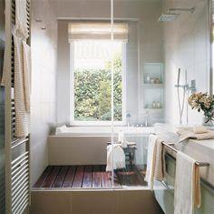 LOVE the shower floor. Definitely doing this when we remodel our bathroom. Master Bath Shower, Bathtub Shower, Master Bathroom, Shower Floor, Bathroom Renos, Bathroom Layout, Bathroom Interior Design, Upstairs Bathrooms, Basement Bathroom