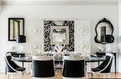 Inneneinrichtung in Schwarz Weiß – 20 Esszimmer Interieurs