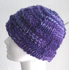 Victorian Plum knit hat by AJoyfulCreation on Etsy, $20.00