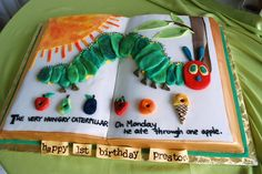 Hungry Caterpillar Storybook Cake