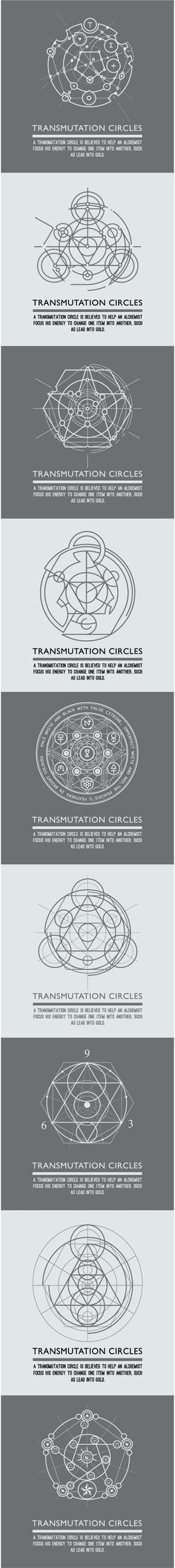 Transmutation circles - alchemical symbol - sacred geometry - can be used in you. Transmutation circles – alchemical symbol – sacred geometry – can be used in your design – Geometric Designs, Geometric Art, Geometric Circle, Graphisches Design, Mystique, Magic Circle, Art Graphique, Fullmetal Alchemist, Trendy Tattoos