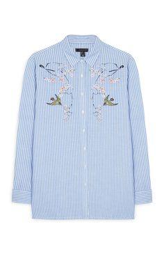 Primark - Camisa às riscas com bordado