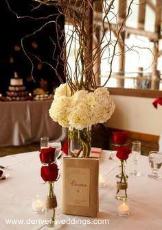 Seaside wedding centerpiece wedding crafts pinterest red and white wedding centerpieces junglespirit Image collections