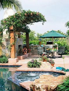 Great pool & backyard...