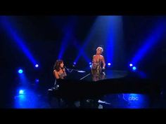 Sarah McLachlan & P!NK duet - 'Angel' [American Music Awards 2008] - YouTube  My comment:  Pink's voice doesn't stand out until she does her solo part. Love this song, but I would like to have heard more of Pink's vocals in the duet. ;/ Ana