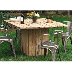 Pallets outdoor table