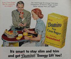 DOMINO SUGAR 1950s VINTAGE ADVERTISEMENT ILLUSTRATION AD by Christian Montone, via Flickr