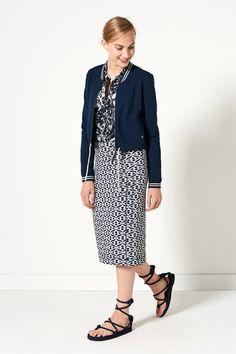 Indian Summer | Fashion | Baseball | Jacket | Blue | Blouse | White | Skirt | Print | Lookbook
