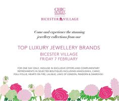 Bicester Village Jewellery Event