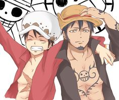 Switch hats - Trafalgar D. Water Law and Monkey D. Luffy One piece