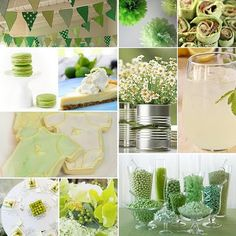 Great green shower! Good ideas on this board!