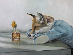 Messenger, by Richard Ahnert . so many underlying messages in this red fox piece. Animals Images, Cute Animals, Fuchs Baby, Fantastic Fox, Fox Illustration, Fox Art, Red Fox, Furry Art, Belle Photo