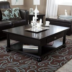 Redoing a Goodwill Coffee Table - in black-\